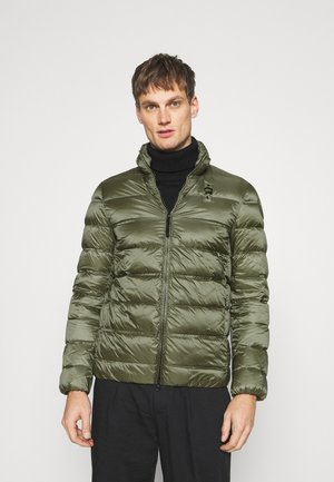 BASIC STAND UP COLLAR  - Down jacket - olive