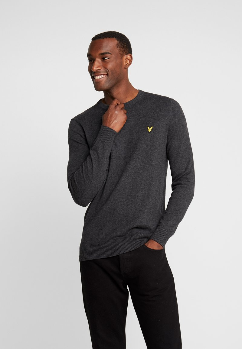 Lyle & Scott - CREW NECK JUMPER - Jumper - charcoal marl