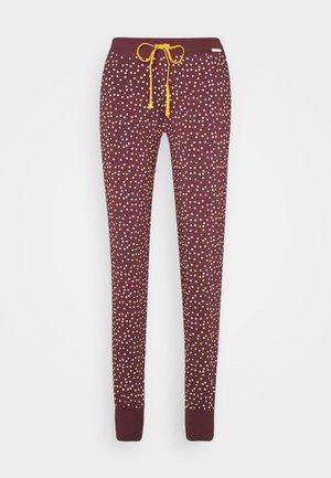 MORNING STRETCHING - Pyžamový spodní díl - aubergine dots