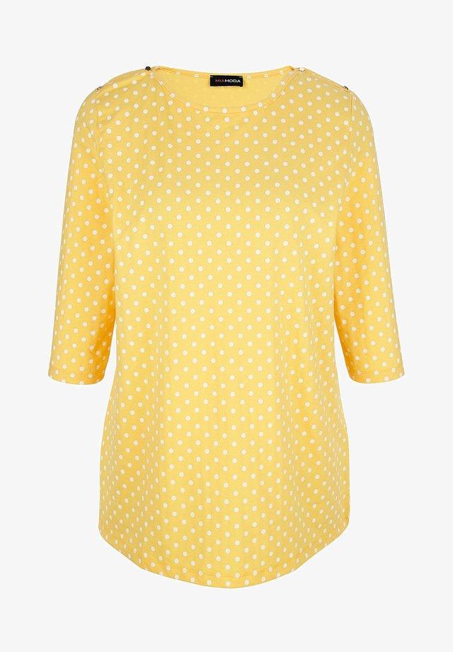 Long sleeved top - gelb,weiß