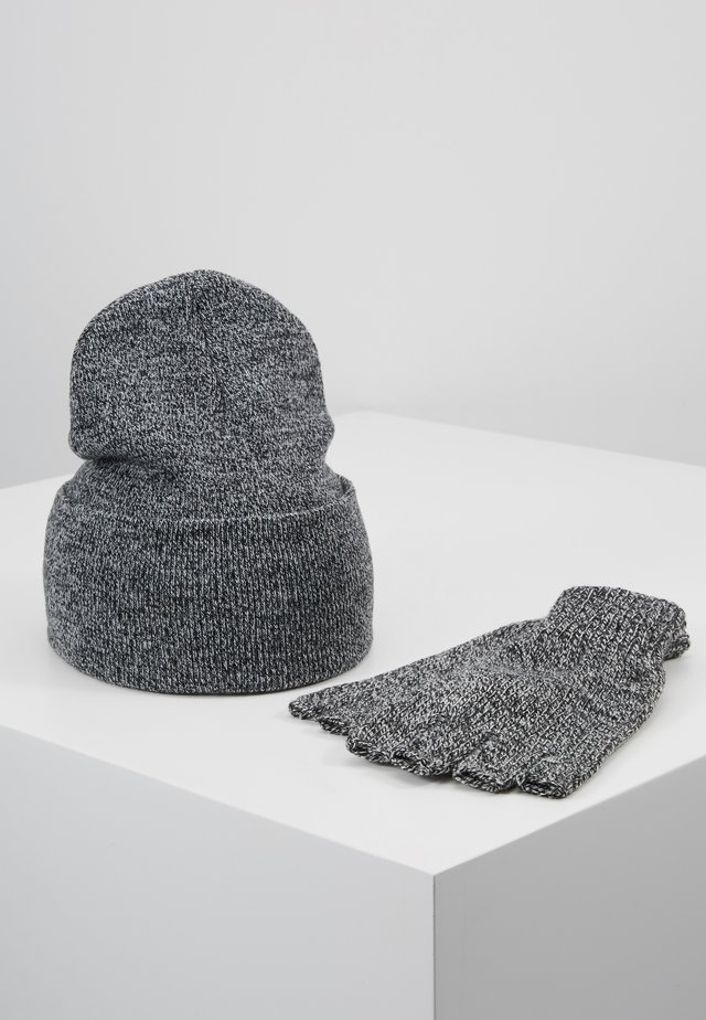SET SKATER BEANIE AND FINGERLESS GLOVES SET - Sormikkaat - grey
