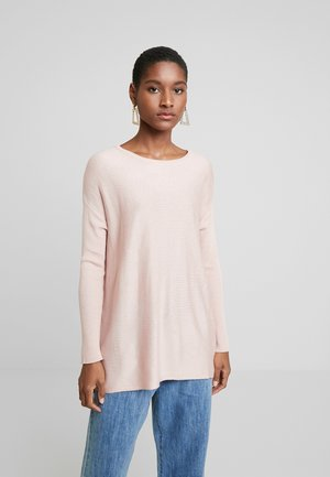 BASIC- RELAXED BOAT NECK JUMPER - Maglione - pink
