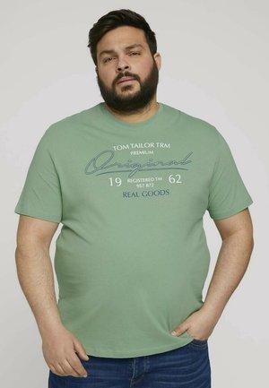 Print T-shirt - light mint green