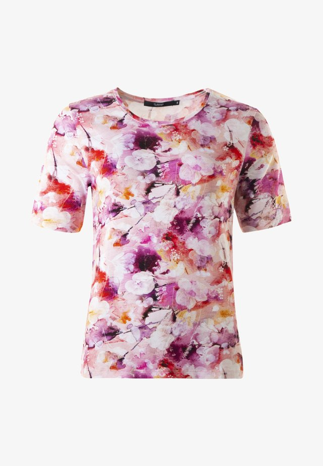 COSIMA  TOPP - Print T-shirt - roseweiss