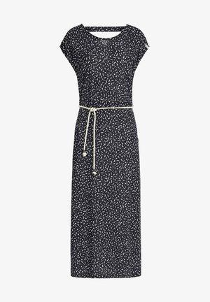 DOREEN - Vestido largo - schwarz-weiß gemustert