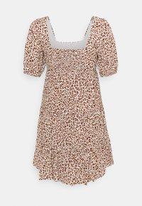 Forever New - OLYMPIA BABYDOLL MINI DRESS - Robe d'été - brown - 4