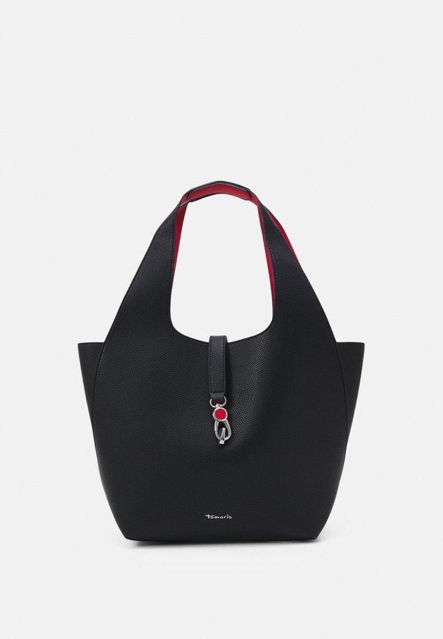 CORDULA SET - Sac à main - black/red