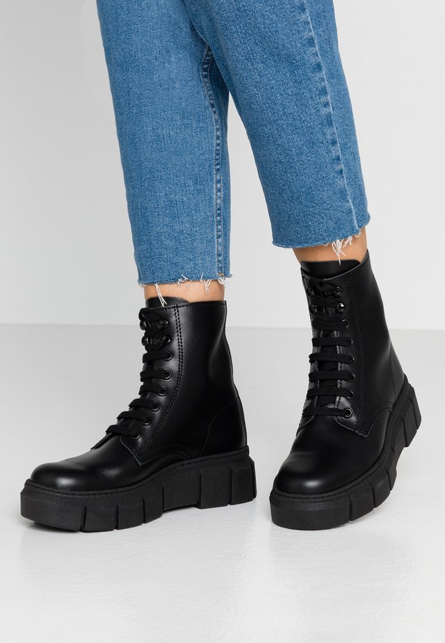 LOR - Platform ankle boots - black