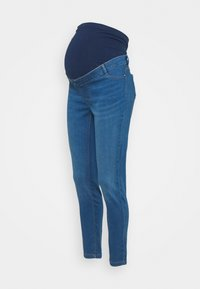 Dorothy Perkins Maternity - MATERNITY MIDWASH OVERBUMP FRANKIE - Jeans Skinny Fit - mid wash denim - 0