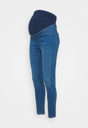 MATERNITY MIDWASH OVERBUMP FRANKIE - Vaqueros pitillo - mid wash denim