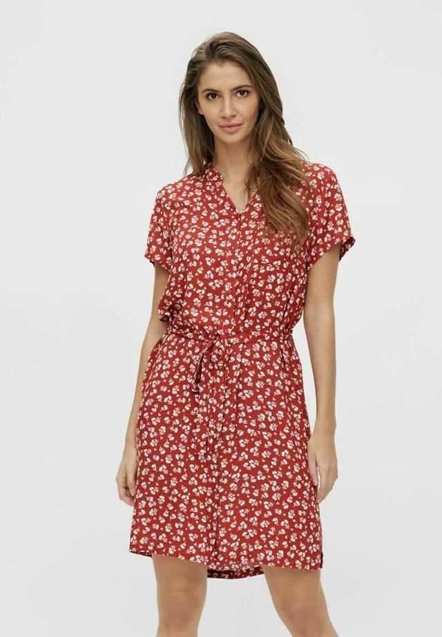 BIRDY DRESS - Sukienka koszulowa - mottled red