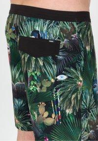 Roark - CHILLER JARDIN OASISS - Swimming shorts - black - 3