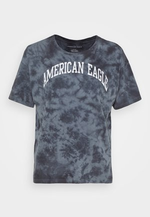 TIE DYE BRANDED  - T-shirts med print - black