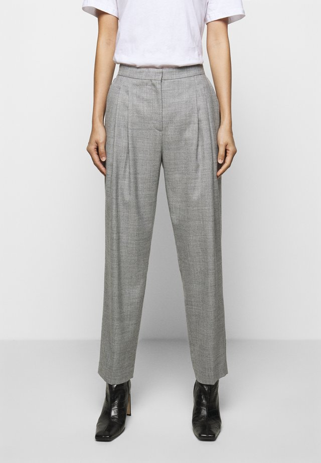 IVY PANTS - Trousers - grey melange