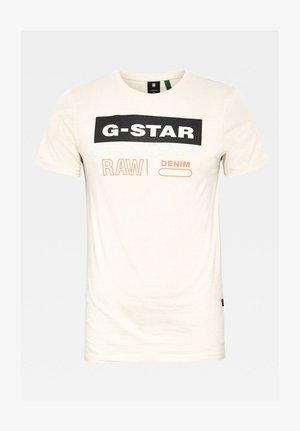 ORIGINALS LABEL LOGO SLIM ROUND SHORT SLEEVE - Print T-shirt - whitebait