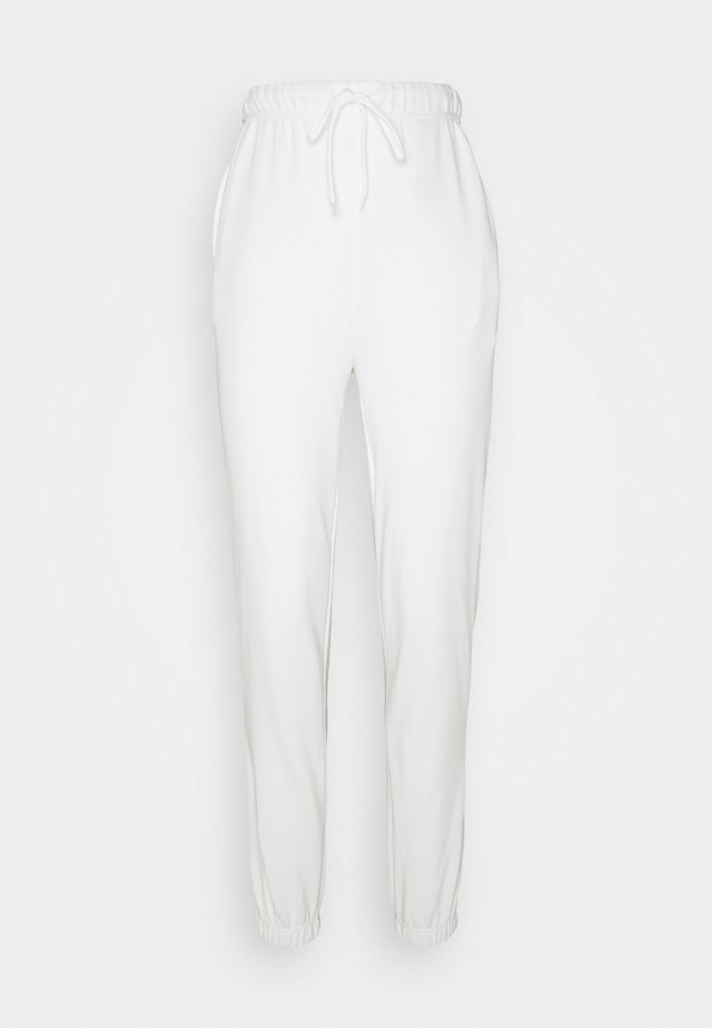 PCCHILLI SUMMER PANTS - Tracksuit bottoms - bright white