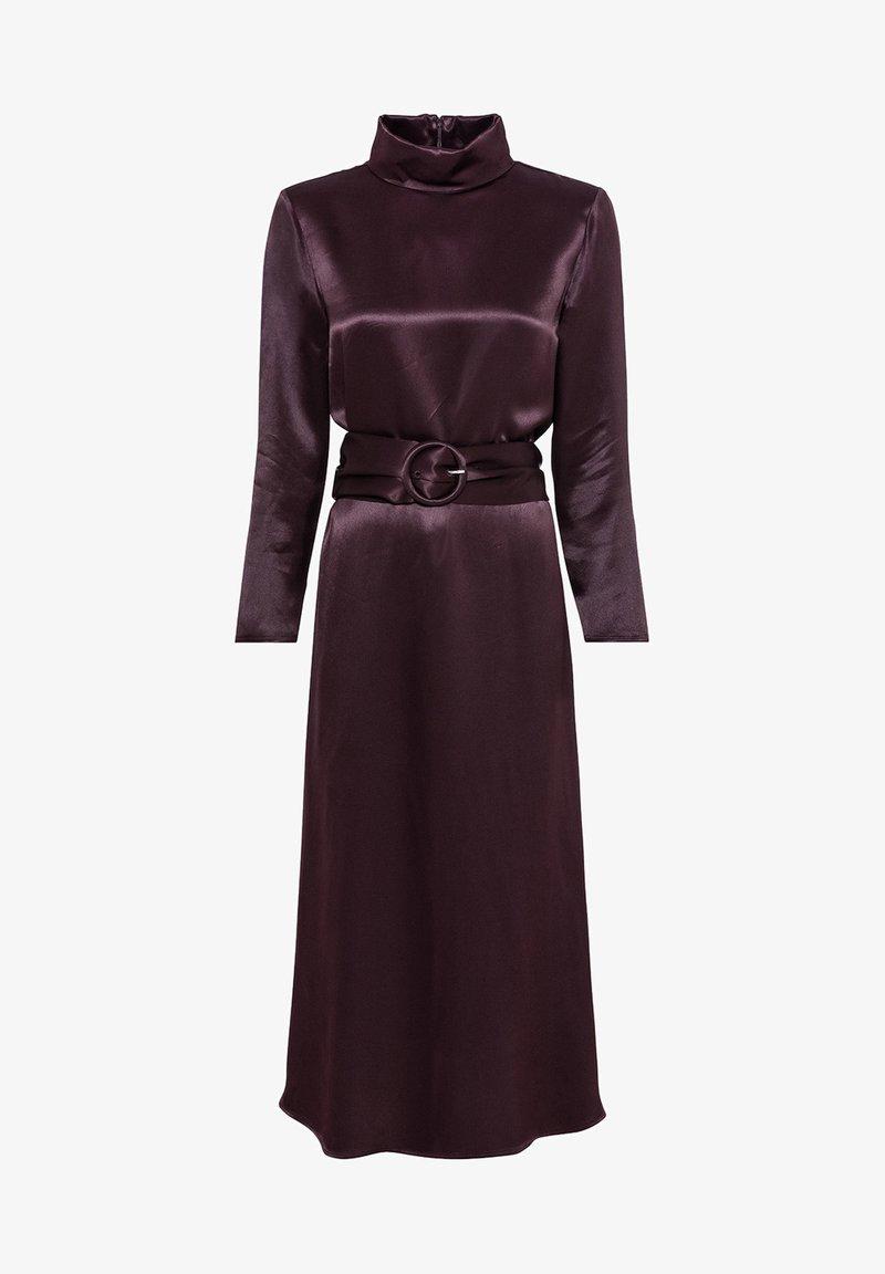 AUS SATIN - Cocktailkleid/festliches Kleid - aubergine