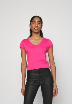 CORE EYBEN SLIM - Basic T-shirt - rebel pink