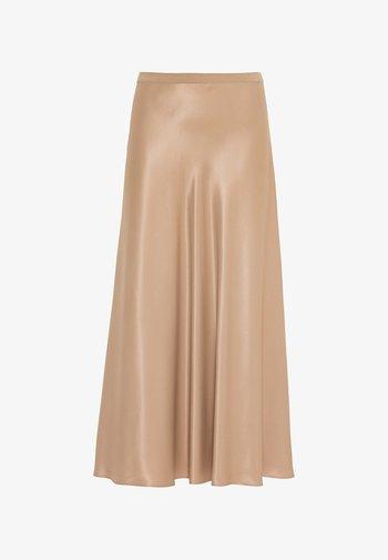 Pleated skirt - camel