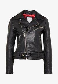 Pieces - PCNICOLINE JACKET - Leather jacket - black - 3