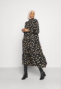 Glamorous - MODESTY SMOCKED HIGHNECK MAXI DRESSES WITH LONG SLEEVES - Maxi dress - black/sand - 2