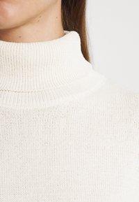 NU-IN - ROLL NECK MINI DRESS - Jumper dress - off-white - 4