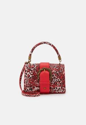 LEOPARD TOP HANDLE WITH BUCKLE - Handbag - pionia