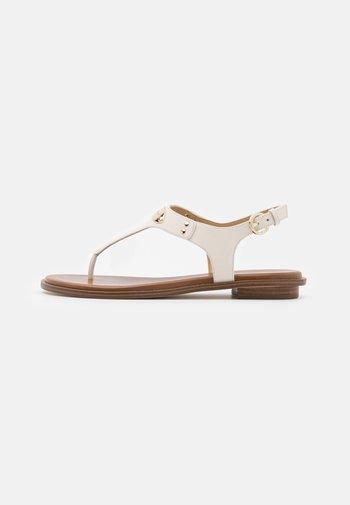 PLATE THONG - T-bar sandals - light cream