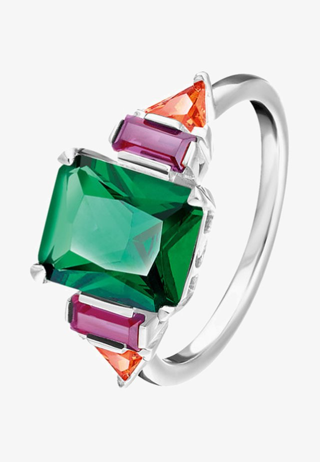 Ring - orange/green/silver-coloured