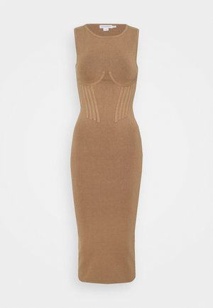 CORSET WAIST DRESS - Maxi šaty - taupe