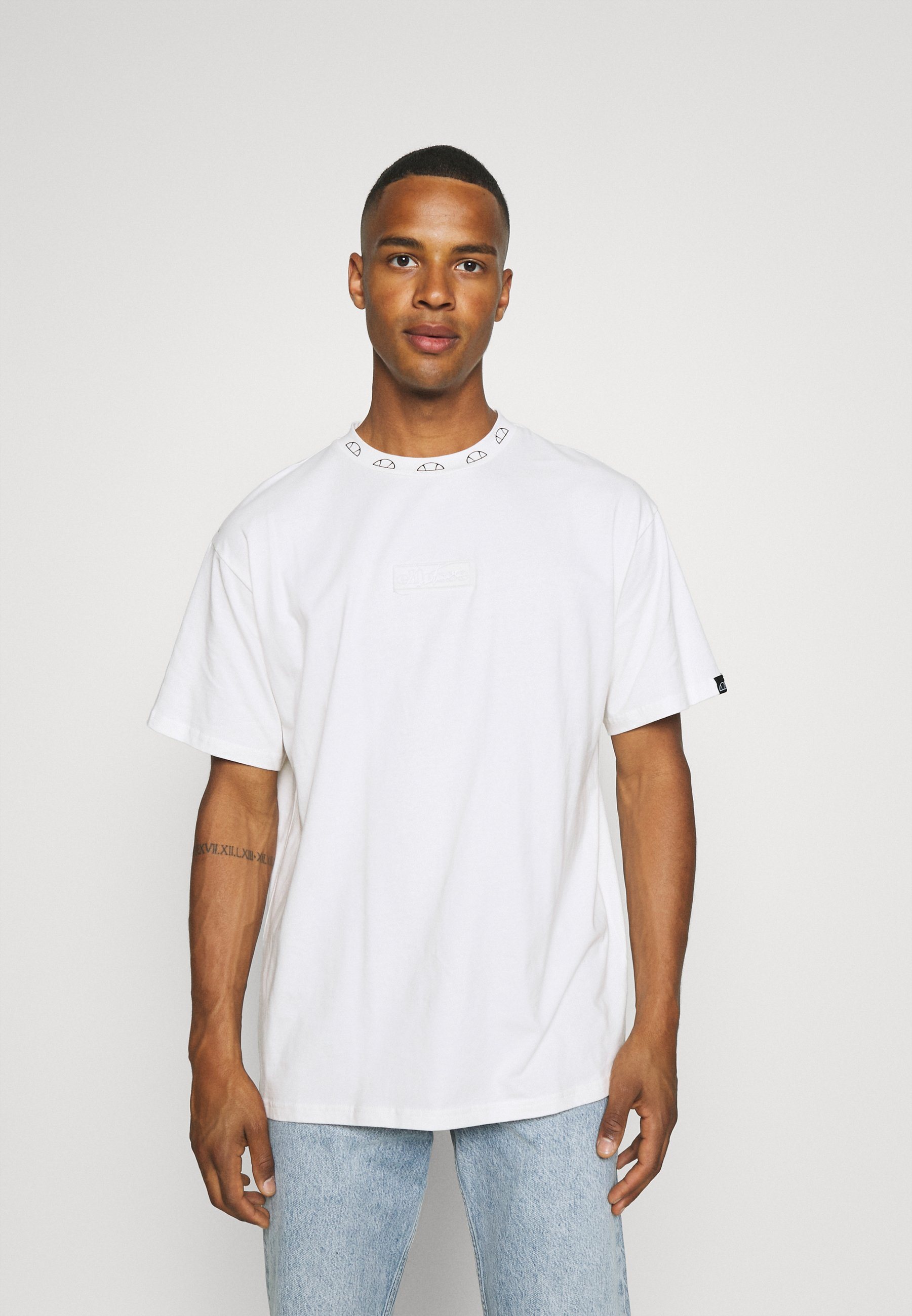 Men TCC X ELLESSE MENS RELAXED FIT JERSEY T-SHIRT WITH TOWELLING BADGE - Basic T-shirt