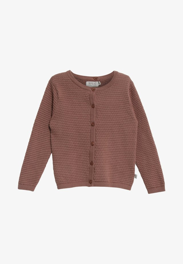 MANUELA - Cardigan - powder plum