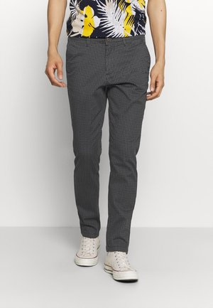 JJIMARCO JJBOWIE BOX CHECK - Chinos - dark navy