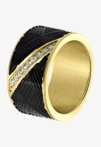 Lucardi - Ring - goudkleurig/zwart - 2