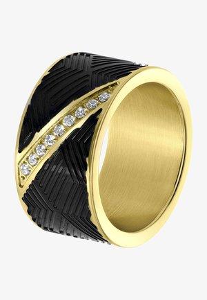 Ring - goudkleurig/zwart