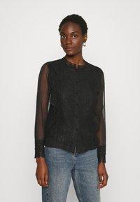 Derhy - APPEL BLOUSE - Button-down blouse - black - 0