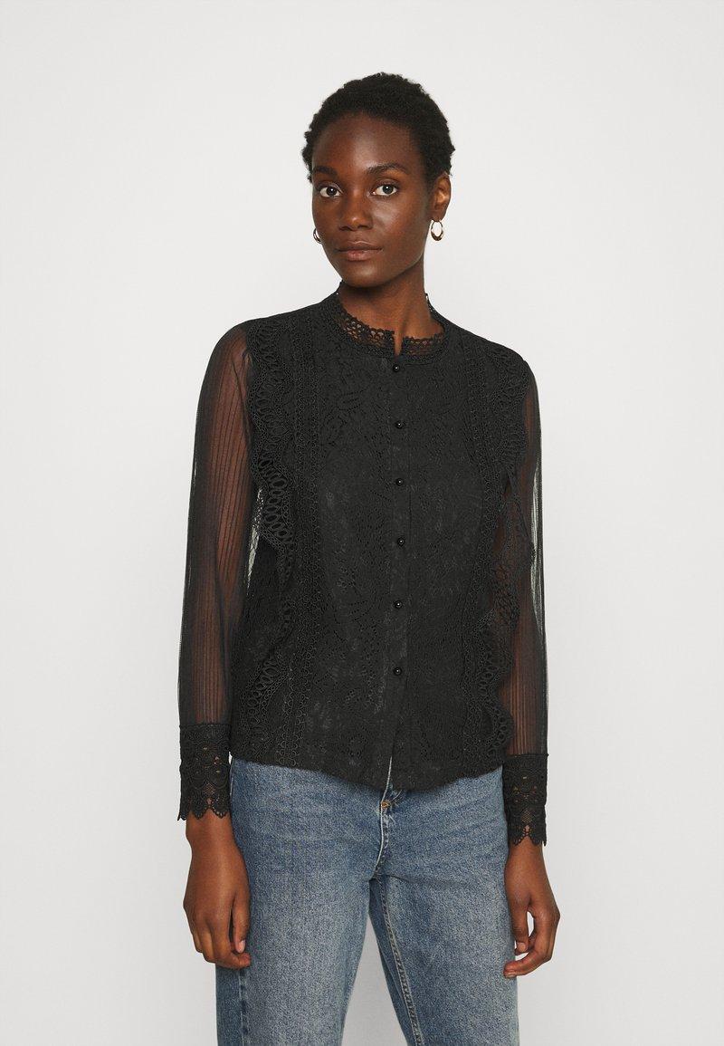 Derhy - APPEL BLOUSE - Button-down blouse - black