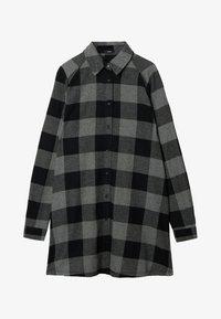 Tezenis - Shirt dress - schwarz -black/charcoal grey maxi tartan - 3