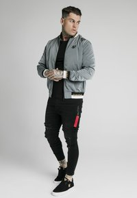 SIKSILK - CRUSHED DELUXE COLLECTION - Bomber bunda - grey - 1