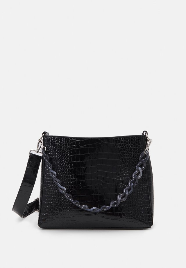 AMBLE CROCO - Borsa a mano - black