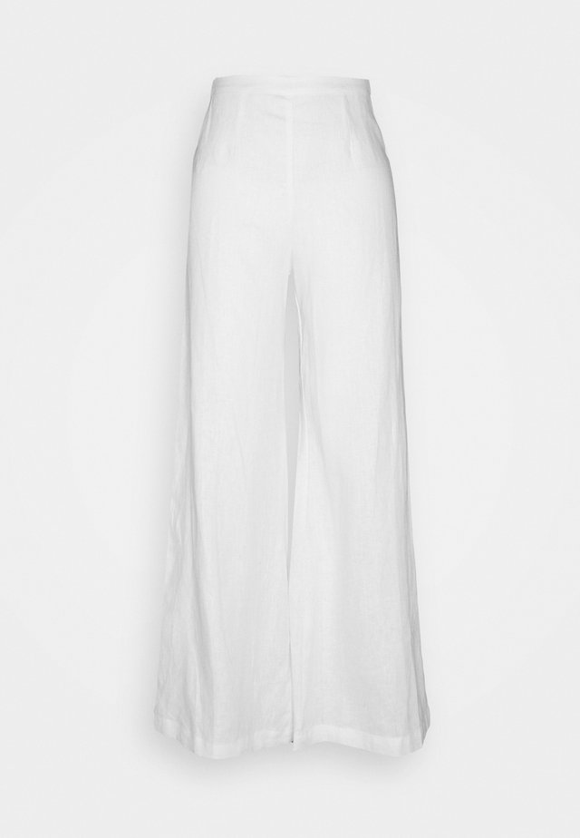 SIBYL PANTS - Tygbyxor - white