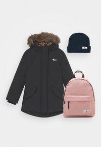 Vingino - TESSIE SET - Winter coat - deep black/dark blue/old pink - 0