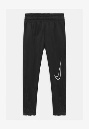 THERMA  - Tracksuit bottoms - black/white