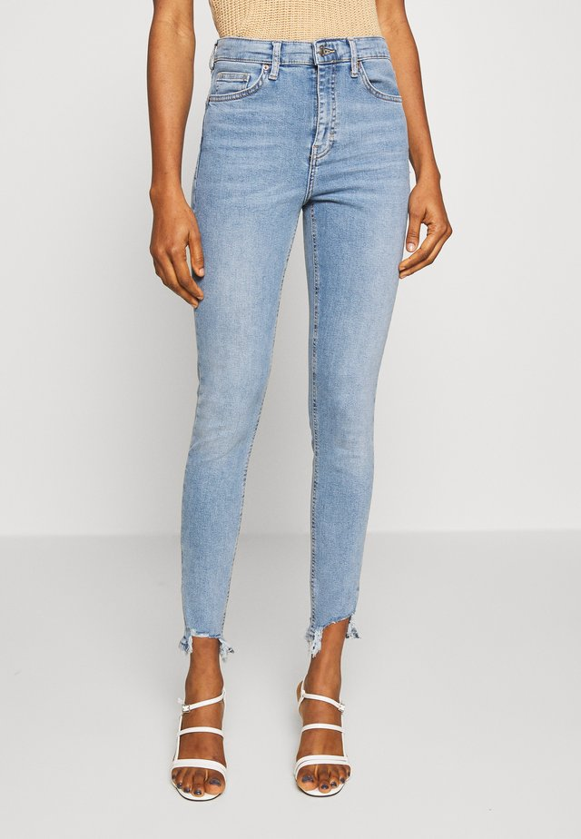 JAGGED HEM JAMIE - Skinny džíny - bleach