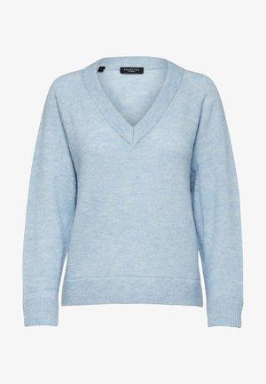 SLFLULU V NECK  - Strikkegenser - cashmere blue