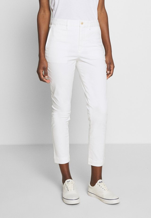 SLIM LEG PANT - Trousers - warm white