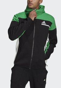 adidas Performance - Z.N.E HOODIE PRIMEGREEN HOODED TRACK TOP - Zip-up hoodie - black - 3