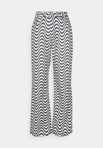 WAVE - Jeans baggy - white/black