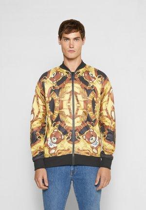 Zip-up sweatshirt - fantasy print black