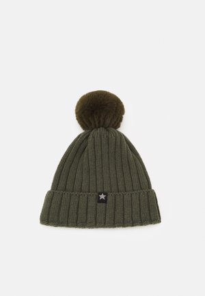 WARMY FOLD UP POMPOM - Mütze - olive/green